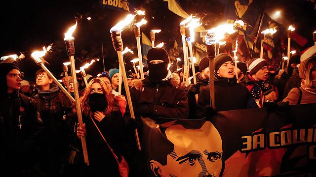 Kiev march in support of anti-Soviet hero (Photo: EPA)