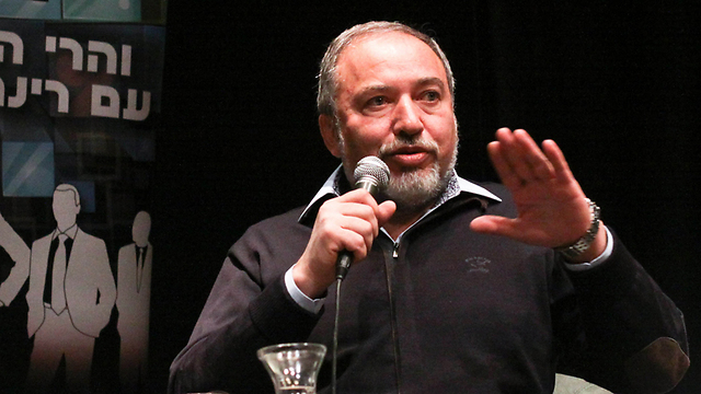 Yisrael Beytenu chairman Lieberman (Photo: Ido Erez)