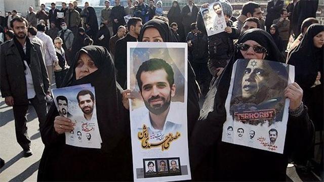 Mostafa Ahmadi Roshan's funeral