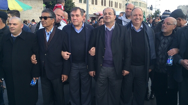 Tibi (third from right) at the march