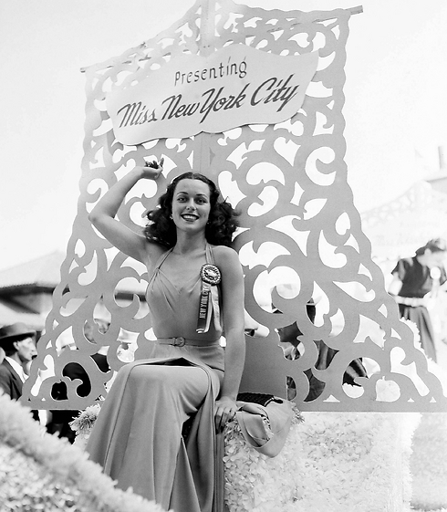 Bess Myerson waves from the float during a parade prior to competing in the Miss America pageant (Photo: AP) (Photo: AP)