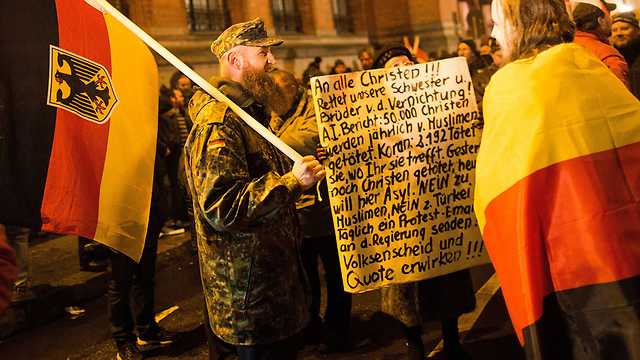 PEGIDA marchers in Germany (Photo: Getty Images)