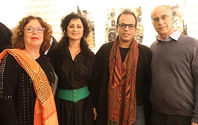 Hachkar, second right, with his Israeli hosts (Photo: Tehila Raanan) (Photo: Tehila Raanan)
