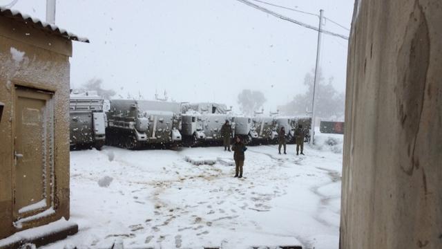 Snow on Golan ski site (Photo: Omri Peles)