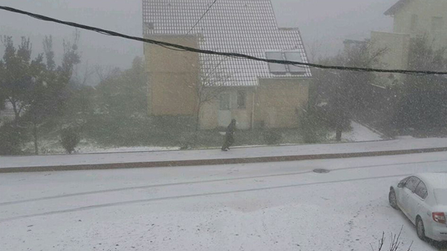 Snow in the Shomron (Mateh Beinyamin Regional Council)