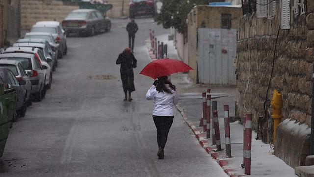 חורף באזור נחלאות בירושלים (צילום: גיל יוחנן) (צילום: גיל יוחנן)
