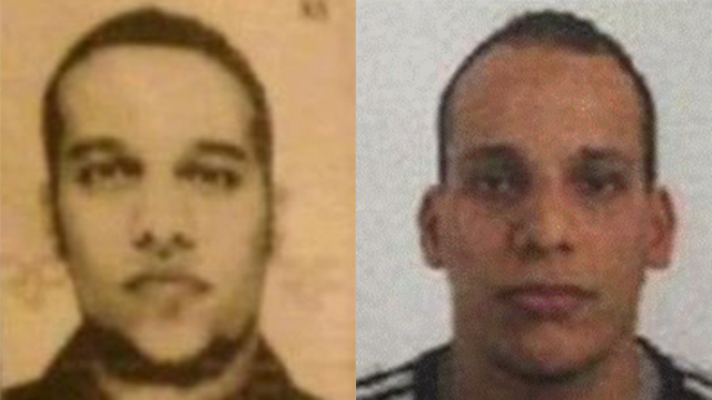 Manhunt continues for brother Said and Cherif Kouachi.