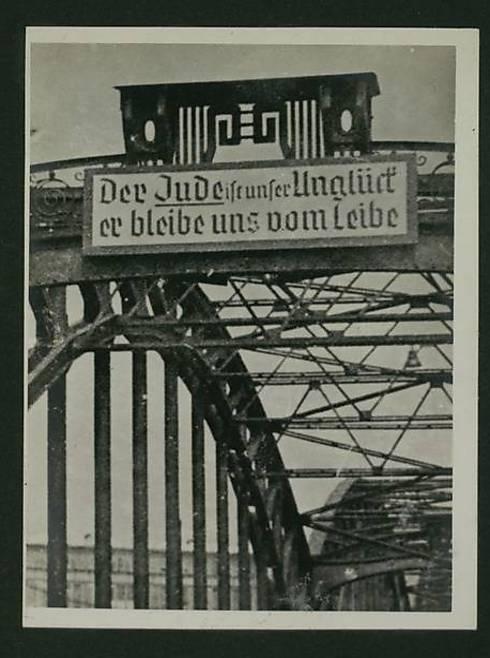 שלטים מזוויעים נגד יהודים בגרמניה הנאצית. הזיכרון כבר לא מהווה מחסום (צילום: באדיבות הספריה הלאומית) (צילום: באדיבות הספריה הלאומית)