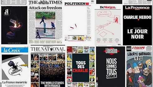 """""""יום שחור"""". שערי עיתונים בצרפת"""