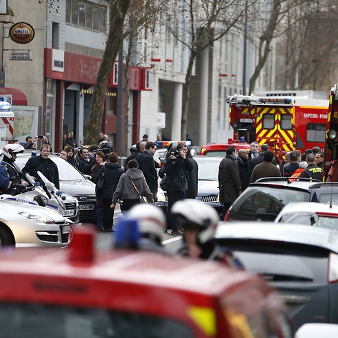 Scene of police station shooting in southern Paris. (Photo: Reuters)