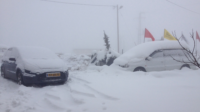 Vehicles in the Golan Heights