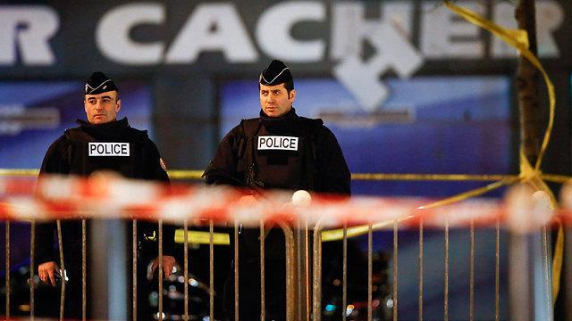 Scene of kosher supermarket shooting Photo: EPA