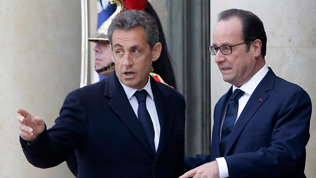 Hollande (R) and Sarkozy. True friends of Israel?