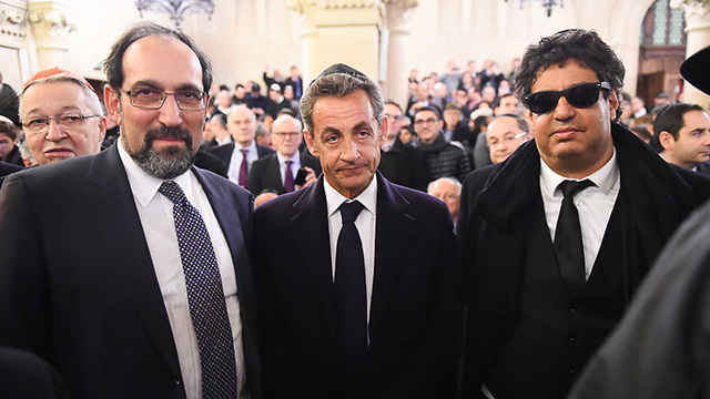 Former French president Nicolas Sarkozy attends the ceremony (Photo: Israel Bardugo)
