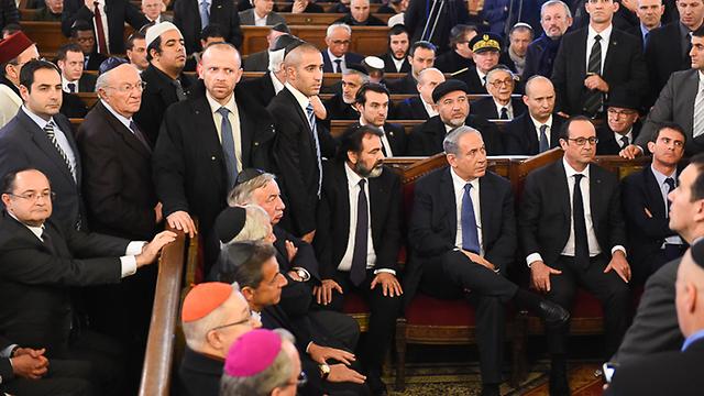 Netanyahu seated for the ceremony. (Photo: Israel Bardugo)