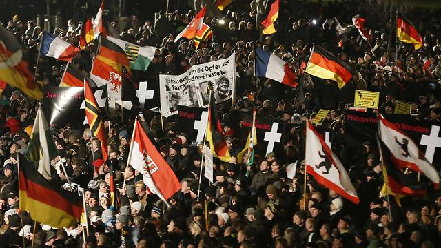 Anti-Islamization protest in Dresden. 'We must stand united against Islamism and jihadism' (Photo: Reuters)
