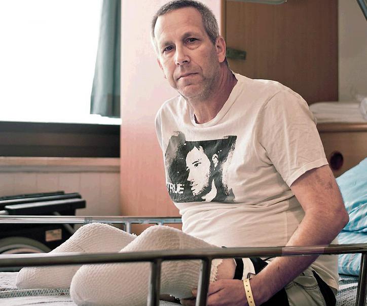 Gadi Yarkoni, who lost both of his legs in a mortar attack (Photo: Yuval Chen)