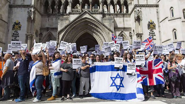 A demonstration against anti-Semitism in London (Photo: AFP)