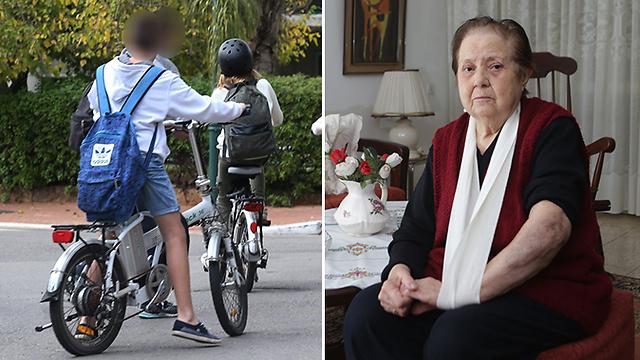 פאני ברקוביץ' נפגעה על-ידי אופניים חשמליים (צילום: ירון ברנר, שאול גולן) (צילום: ירון ברנר, שאול גולן)