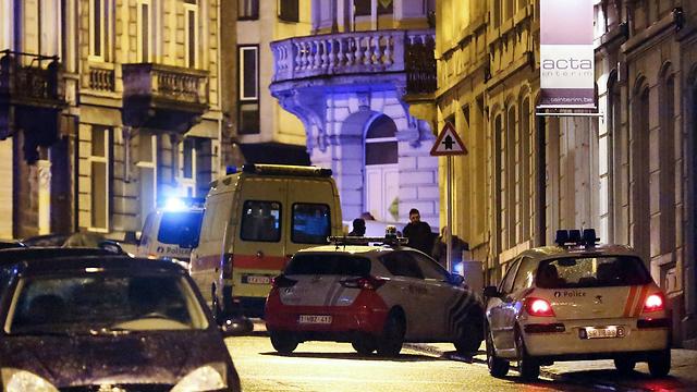 Scene of raid in Belgium (Photo: AFP) (Photo: AFP)