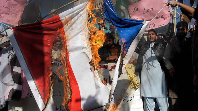 Anti-French protest in Pakistan (Photo: AP)