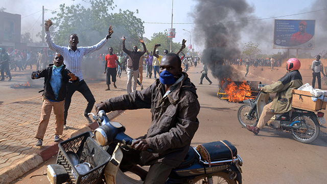Dangerous riots in Niger. (Photo: AFP)