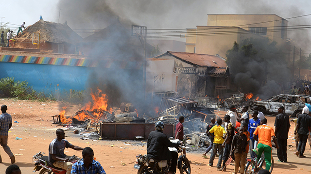 Anti-Charlie Hebdo riots Niger. (Photo: AFP)