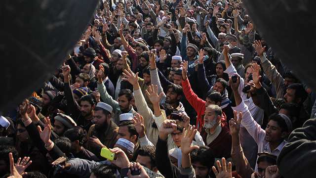Pakistan protest. (Photo: MCT)