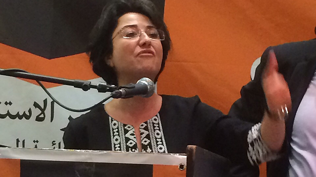 Hanin Zoabi, one of the three Balad Ministers who was suspended for 4 months after meeting with the families of terrorists