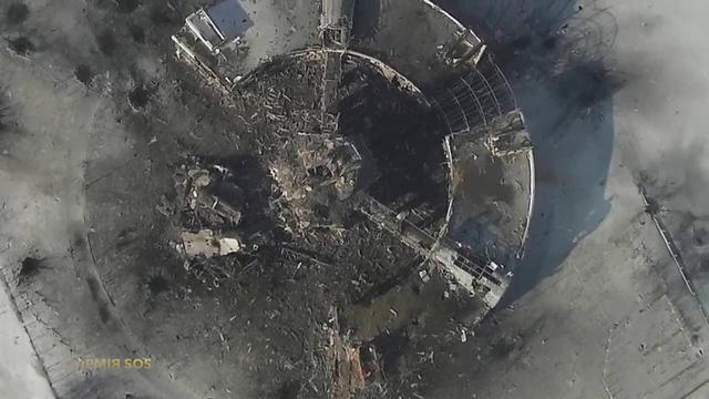 נמל התעופה ההרוס בדונייצק. מבט מלמעלה (צילום: רויטרס) (צילום: רויטרס)