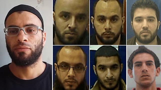 The seven defendants (Photo courtesy of Shin Bet)