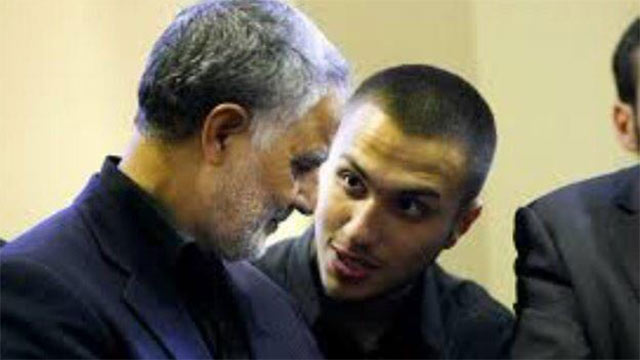 Jihad Mughniyeh with his Iranian patron, Qasem Soleimani