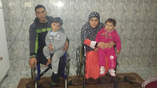 The al-Namlah family today. 'We need help.'