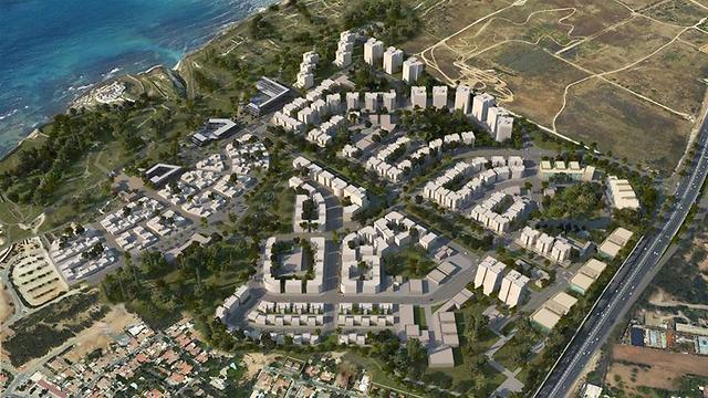פרויקט אפולוניה  (הדמיה באדיבות רשות מקרקעי ישראל) (הדמיה באדיבות רשות מקרקעי ישראל)