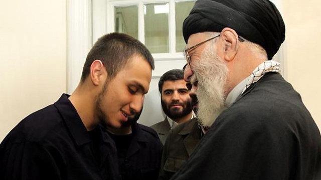 Jihad Mughniyeh alongside Iranian leader Rouhani.