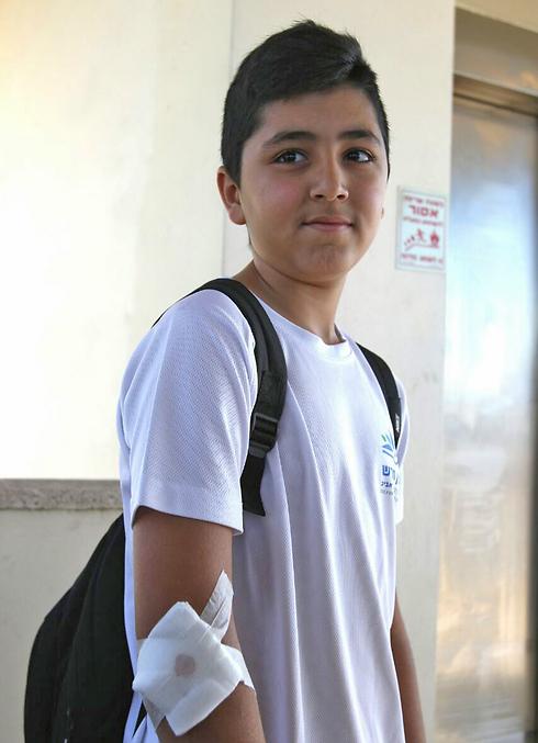 Liel Suissa wason his way to school when the terrorist struck. (Photo: Avi Mualem) (Photo: Avi Mualem)