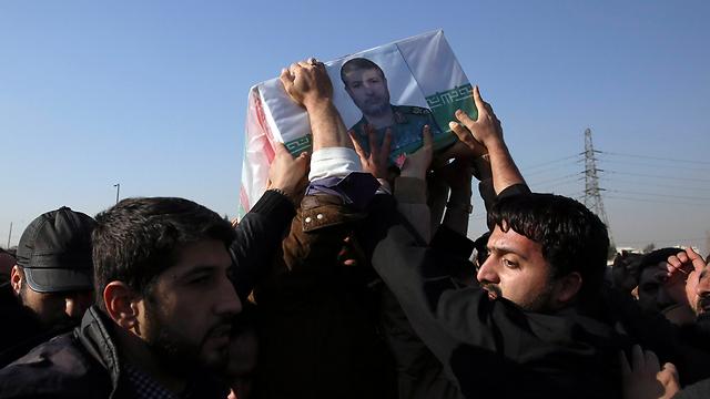 Funeral of Iranian Gen. Mohammad Ali Allahdadi (Photo: AP)