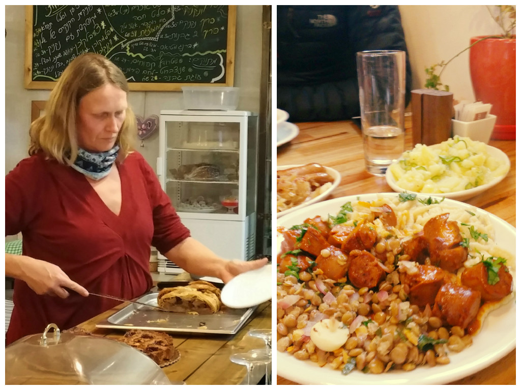 """אוכל בסגנון גרמני באמצע המדבר. אורסולה (צילום: יח""""צ)"""