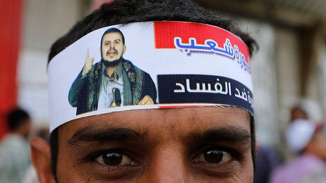 תומך של התנועה החות'ית, צנעא (צילום: רויטרס) (צילום: רויטרס)