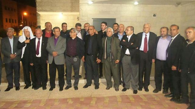 חברי המפלגות הערביות, אחרי החתימה על ההסכם הערב ()