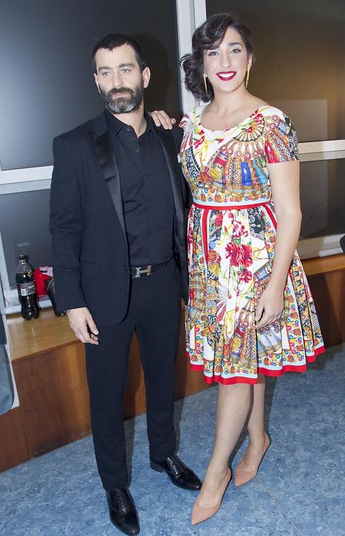 אלמה דישי ויהודה לוי, מנחי הערב (צילום: רפי דלויה) (צילום: רפי דלויה)