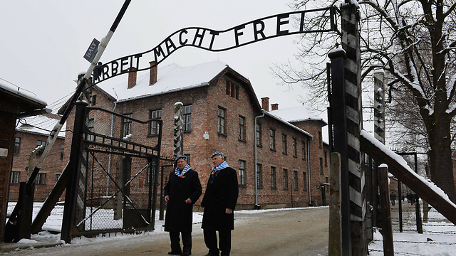 Holocaust survivors at ceremony marking 70 years to the liberation of Auschwitz (Photo: AFP)