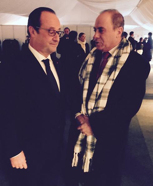 השר סילבן שלום ונשיא צרפת הולנד ()