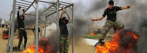 Hamas training camp in Gaza.