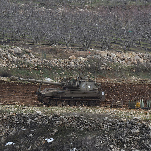 IDF tanks in the Golan Heights earlier in the day. (Photo: Avihu Shapira)