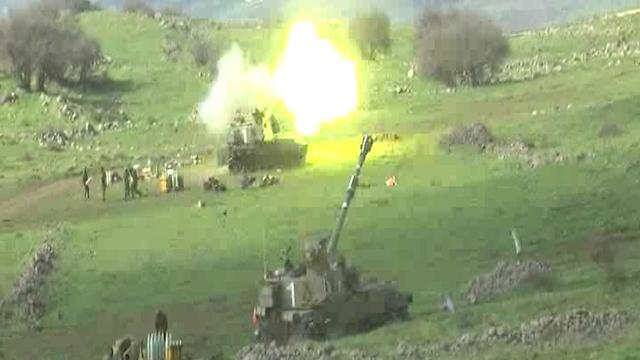 ירי התגובה ללבנון בצהריים (צילום: אביהו שפירא) (צילום: אביהו שפירא)
