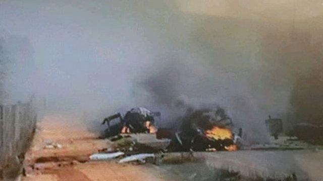 תמונה של כלי הרכב שנפגעו ()