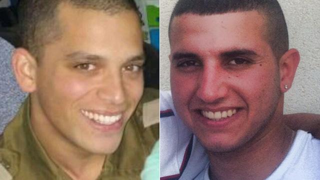 IDF soldiers Yohahi Kalangel (left) Dor Nini, killed in attack