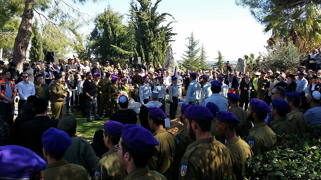 Funeral for Major Yochai Kalangel in Jerusalem (Photo: Eli Mendelbaum) (Photo: Eli Mendelbaum)