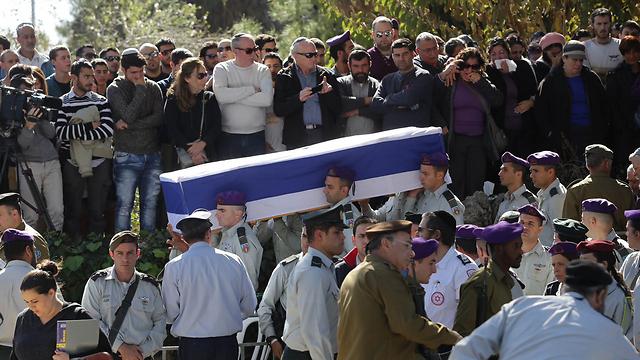 Funeral for Major Yochai Kalangel in Jerusalem (Photo: Ohad Zwigenberg)